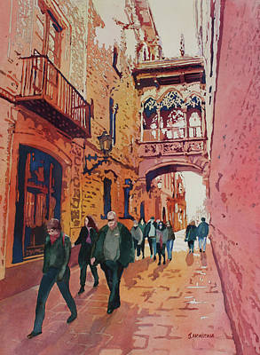 Painting - Barcelona Gothic by Jenny Armitage