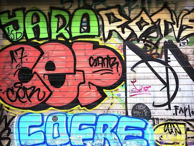 Photograph - Barcelona Graffiti Colors by John Rizzuto
