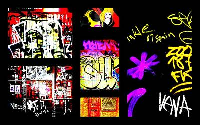 Funkpix Digital Art - Barcelona Graffiti  by Funkpix Photo Hunter