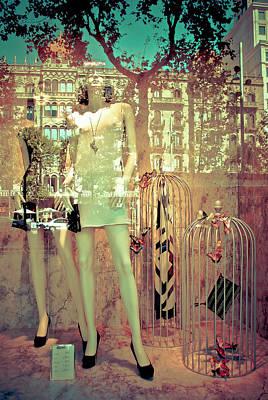 Photograph - Barcelona Maidens Of Fashion  by David Perea