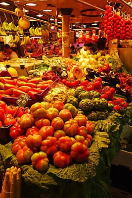 Banana Peppers Photograph - Barcelona Market La Rambla Spain by Toby McGuire