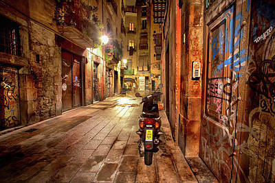 Cityscenes Photograph - Barcelona Nights by Janet Meehan