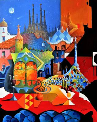 Painting - Barcelona Nights by Joe Gilronan