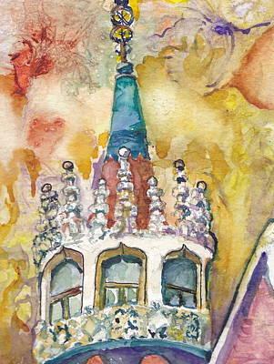 Barcelona Art Print by P Maure Bausch
