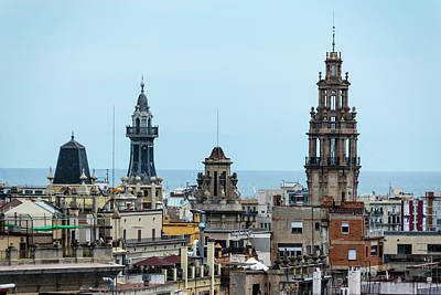 Photograph - Barcelona Rooftops 2 by Steven Richman