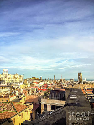 Photograph - Barcelona Rooftops by Colleen Kammerer