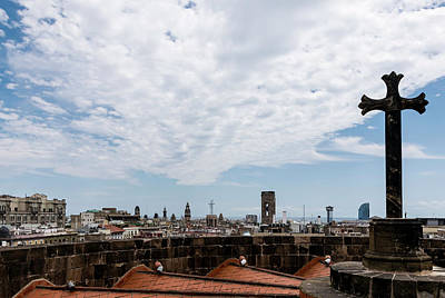 Photograph - Barcelona Rooftops by Steven Richman