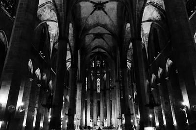Photograph - Barcelona - Santa Maria Del Mar 2 by Andrea Mazzocchetti