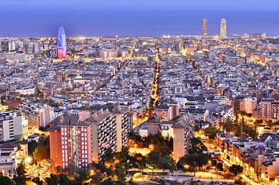 Photograph - Barcelona Skyline by Marek Stepan