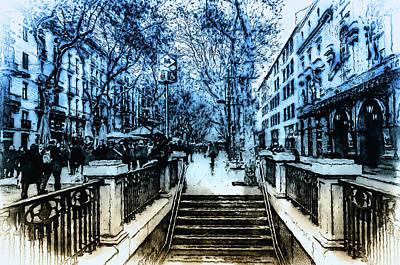 Painting - Barcelona, Streets - 03 by Andrea Mazzocchetti
