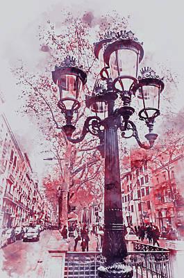 Painting - Barcelona, Streets - 04 by Andrea Mazzocchetti