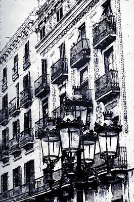 Digital Art - Barcelona, Streets - 07 by Andrea Mazzocchetti