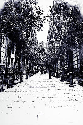 Digital Art - Barcelona, Streets - 09 by Andrea Mazzocchetti