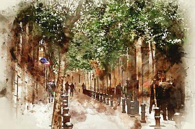 Painting - Barcelona, Streets - 10 by Andrea Mazzocchetti