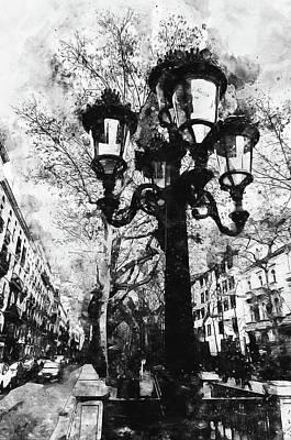 Painting - Barcelona, Streets - 15 by Andrea Mazzocchetti