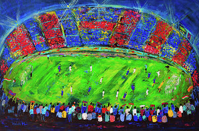 Mixed Media - Barcelona Vs Madrid Soccer- El Classico by Haleh Mahbod