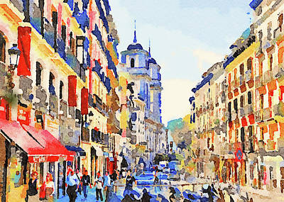 Digital Art - Barcelona Watercolors 2 by Yury Malkov
