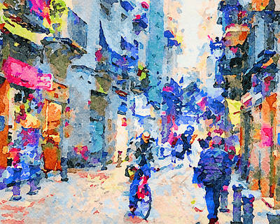 Digital Art - Barcelona Watercolors 3 by Yury Malkov