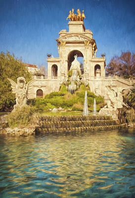Cascada Photograph - Barcelona Waterfall by Joan Carroll