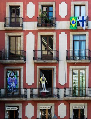Photograph - Barcelona Portal De La Pau by Steven Richman