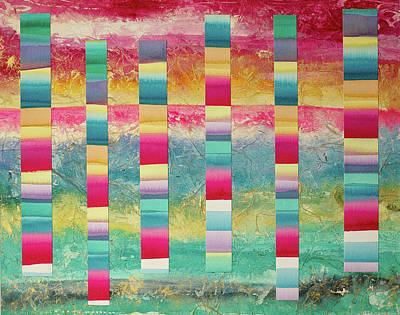 Goddess Jewellery Painting - Barcode For Seeing The Astonishing Light Of Your Own Being by Cheryl Irwin