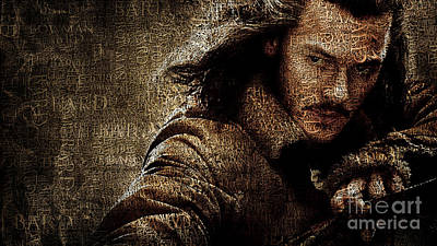 Portraits Digital Art - Bard - Luke Evans by Prar Kulasekara