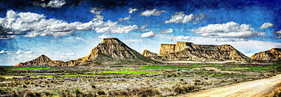 Photograph - Bardenas Desert Panorama 4 - Vintage Version by Weston Westmoreland