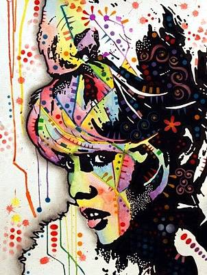 Rights Mixed Media - Bardot by Dean Russo