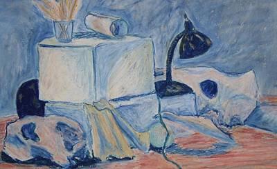 Art Print featuring the pastel Bare Bones by Jean Haynes