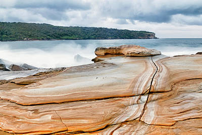 Photograph - Bare Island Rock Platforms 1 by Nicholas Blackwell