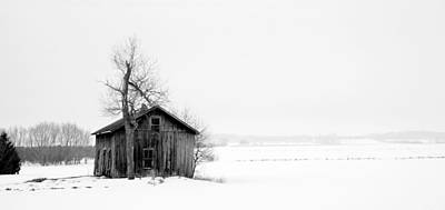 Bare Tree And Barn Art Print by Levin Rodriguez
