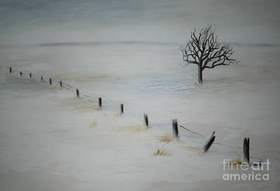 Bare Tree Art Print by Vivian  Mosley