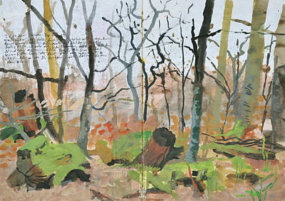 Painting - Bare Trees And Mossy Woody Debris by Martin Stankewitz
