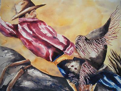Wall Art - Painting - Bareback Rider by Cheryl Bishop