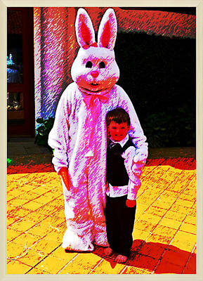 Photograph - Barefeet And Easter Bunny by Cadence Spalding
