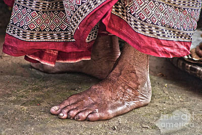 Photograph - Barefoot At The Temple by Nola Lee Kelsey