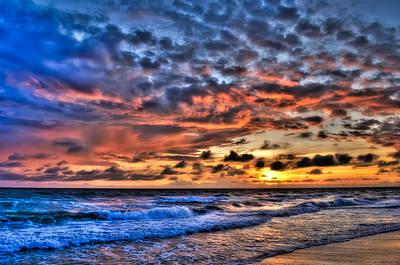 Barefoot Beach Sunset Art Print by Rich Leighton