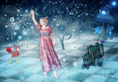 Digital Art - Barefoot In A Wonderland by Jutta Maria Pusl