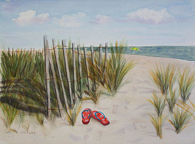 Painting - Barefoot On The Beach by Jill Ciccone Pike