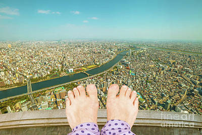 Photograph - Barefoot Woman Suicide by Benny Marty
