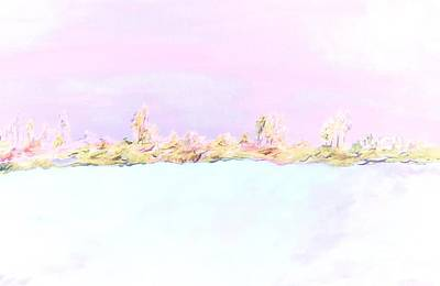 Painting - Barely There Pink Abstract Landscape by Eloise Schneider