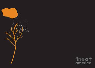 Digital Art - Bare Tree In Winter Graphic Illustration by Conni Schaftenaar
