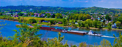 Photograph - Barge On The Ohio River by Jonny D