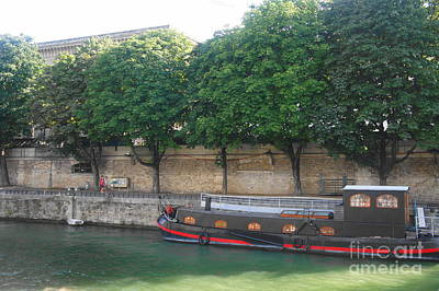 Photograph - Barge On The River Seine by Therese Alcorn