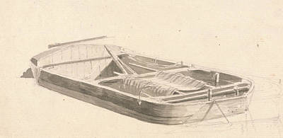 Paul Drawing - Barge by Paul Sandby