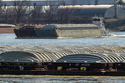 Photograph - Barge Traffic In St Louis by Garry McMichael