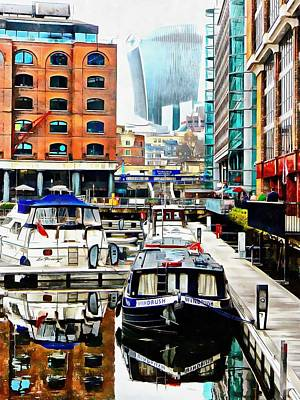 Photograph - Barge View St Katharine Docks London by Dorothy Berry-Lound