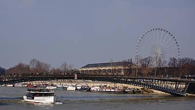 Photograph - Barges On The Seine Paris France by Lawrence S Richardson Jr