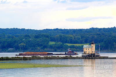 Hudson River Tugboat Photograph - Barging In by Maxine Kamin