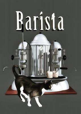 Painting - Barista by Jan Keteleer